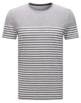 BOSS Hugo Cotton Engineered Stripe T-Shirt Tessler WS XXL Grey
