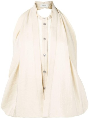 Lemaire two-layered sleeveless blouse