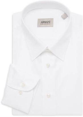 Armani Collezioni Solid Dress Shirt