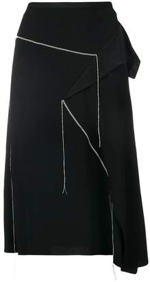 Marni asymetric ruffled skirt