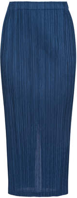 Pleats Please Issey Miyake Thicker Bottom Midi Skirt