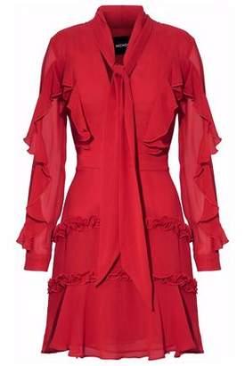 Nicholas Pussy-Bow Ruffled Silk-Chiffon Mini Dress