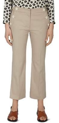 Gerard Darel Pantalon Cropped Button-Detail Pants