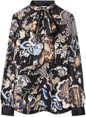 Tory Burch HAPPY TIMES BOW BLOUSE