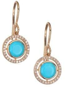 Astley Clarke Biography Celestial Turquoise, Diamond& 14K Yellow GoldDrop Earrings