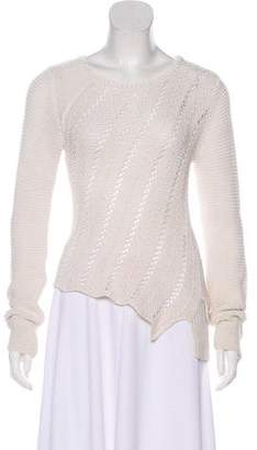 Proenza Schouler Crew Neck High-Low Hem Sweater