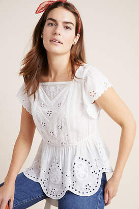 bcc75acedd08c White Eyelet Top - ShopStyle