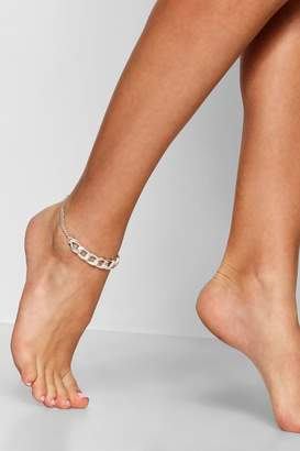 boohoo Chunky Chain Anklet