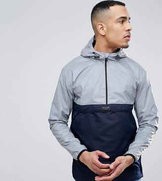 Nicce London overhead windbreaker jacket in reflective with navy panel exclusive to asos