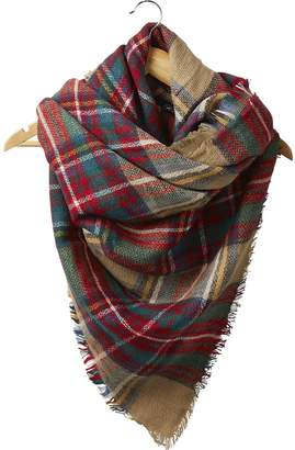 Tickled Pink Accessories Women's Fall Winter Plaid Tartan Blanket Scarf Wrap Shawl with Fringe