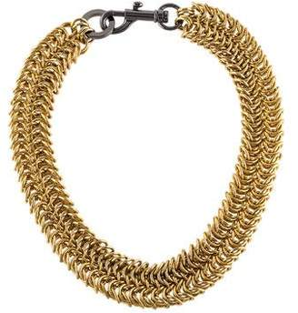 Rebecca Minkoff Dog Clip Chainmail Necklace
