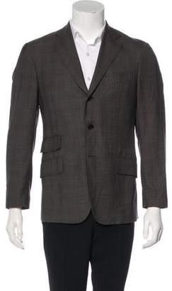 Etro Virgin Wool Plaid Blazer