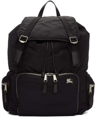 Burberry Black Extra Large Aviator Backpack