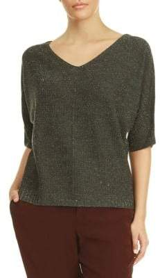 Dex Dolman-Sleeve Textured Sweater