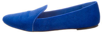 B Brian Atwood Ponyhair Round-Toe Loafers $130 thestylecure.com