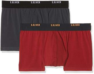 S'Oliver Men's 2R.895.97.4253 Boxer Shorts, Multicolour (Red and Grey 18D1), L (Manufacturer Size: 6)