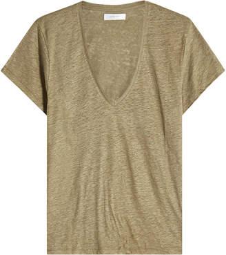 Anine Bing Linen V-Neck T-Shirt