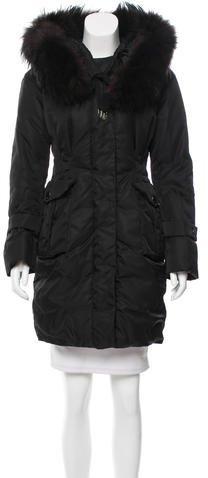 MonclerMoncler Fur-Trimmed Niger Coat