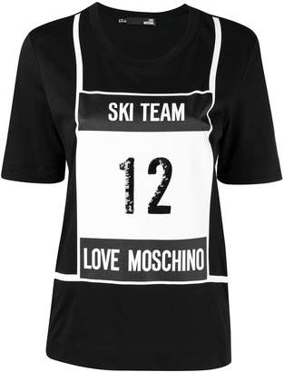 Love Moschino ski print T-shirt
