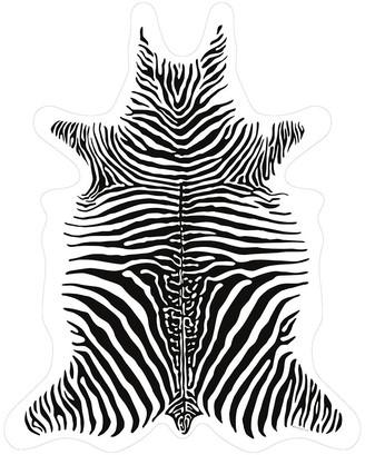 Podevache PODEVACHE - Zebra Vinyl Floor Mat - White - Medium