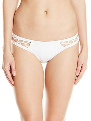 Seafolly Women's Mesh About High Cut Brazilian Bikini Bottom Swimsuit