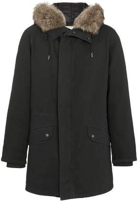 Yves Salomon fur trimmed hooded parka