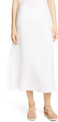 d0c6706331 Eileen Fisher Side Slit Organic Linen Skirt