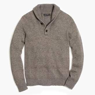J.Crew Shawl-collar sweater in supersoft wool blend