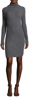 Qi Directional Rib Turtleneck Dress