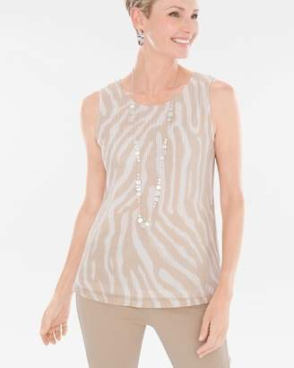 Travelers Collection Wheat Mesh Zebra Tank