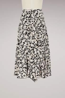 Proenza Schouler Silk ruffle skirt