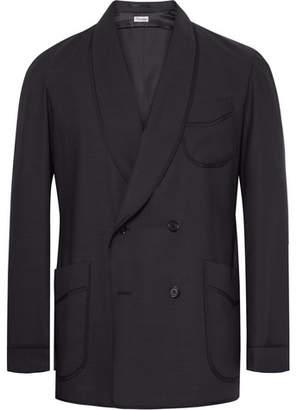Camoshita Slim-Fit Double-Breasted Wool-Blend Blazer