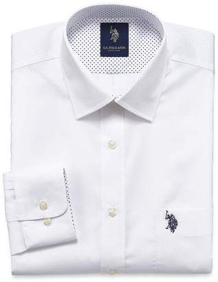 U.S. Polo Assn. USPA Long Sleeve Broadcloth Dress Shirt - Slim