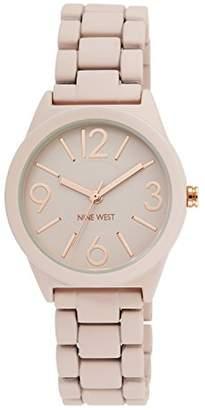 Nine West Women's NW/1812PKRG Matte Blush Pink Rubberized Bracelet Watch