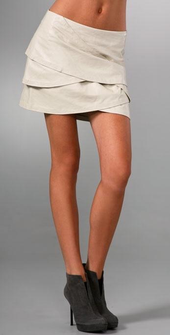 Jill Stuart Melanie Leather Skirt
