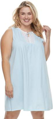 Croft & Barrow Plus Size Printed Lace Nightgown