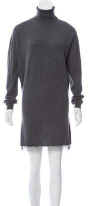 Barbara Bui Long Sleeve Mini Dress Grey Long Sleeve Mini Dress
