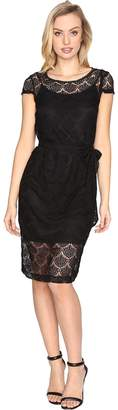 Jessica Simpson Scalloped Lace Dress Women's Dress