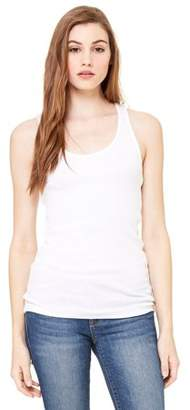 Clementine Apparel Women's Clementine Rib Racerback Longer Length Tank Top