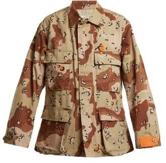 Myar - 1990s Usj90 American Camouflage Print Jacket - Womens - Khaki Multi