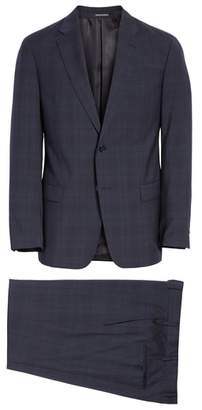 Emporio Armani G Line Trim Fit Plaid Wool Suit