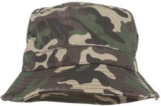 TOP HEADWEAR Green Camouflage Bucket Hat