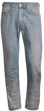 Diesel Regular-Rise Slim-Fit D-Mharky Faded Whiskered Jeans