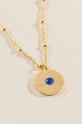 francesca's September Birthstone Pendant - Blue