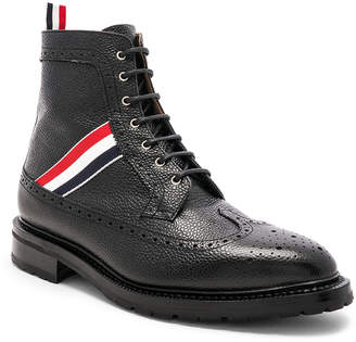 Thom Browne Pebble Grain Longwing Boots