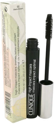 Clinique .28Oz Black/Brown High Impact Mascara Dramatic Lashes On-Contact