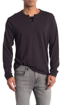 ProjekRaw Projek Raw Henley Drop Needle Long Sleeve Shirt