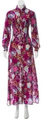 Alberta Ferretti Silk Maxi Dress