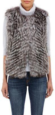 Barneys New York Women's Fox Fur Vest-BROWN $895 thestylecure.com