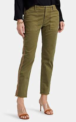 Nili Lotan Women's Jenna Cotton Twill Slim Pants - Uniform Green